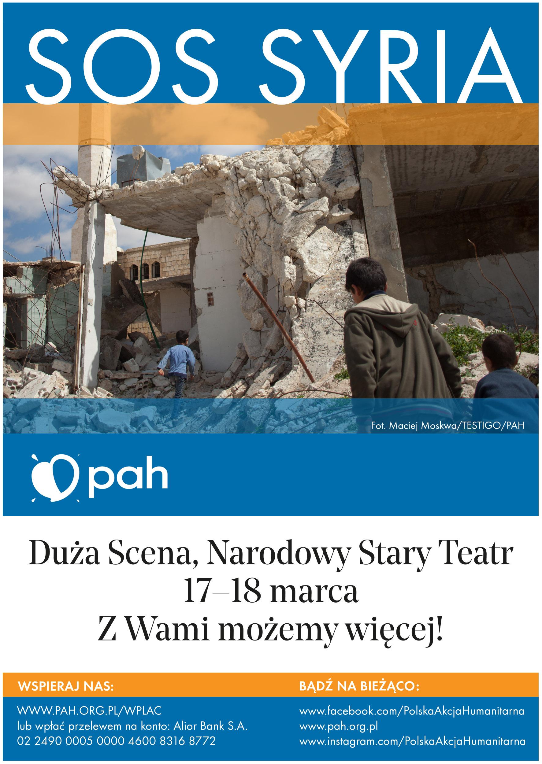 SOS SYRIA: zbiórka na rzecz ofiar wojny w Syrii